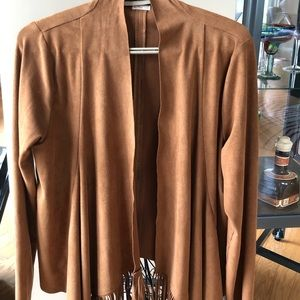 Ladies Hollister fringe faux suede jacket